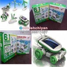 فروش عمده روبات خورشیدی ۶ کاره اسباب بازی فکری
